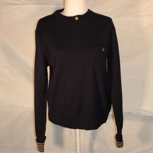Vintage navy blue wool sweater, med/small